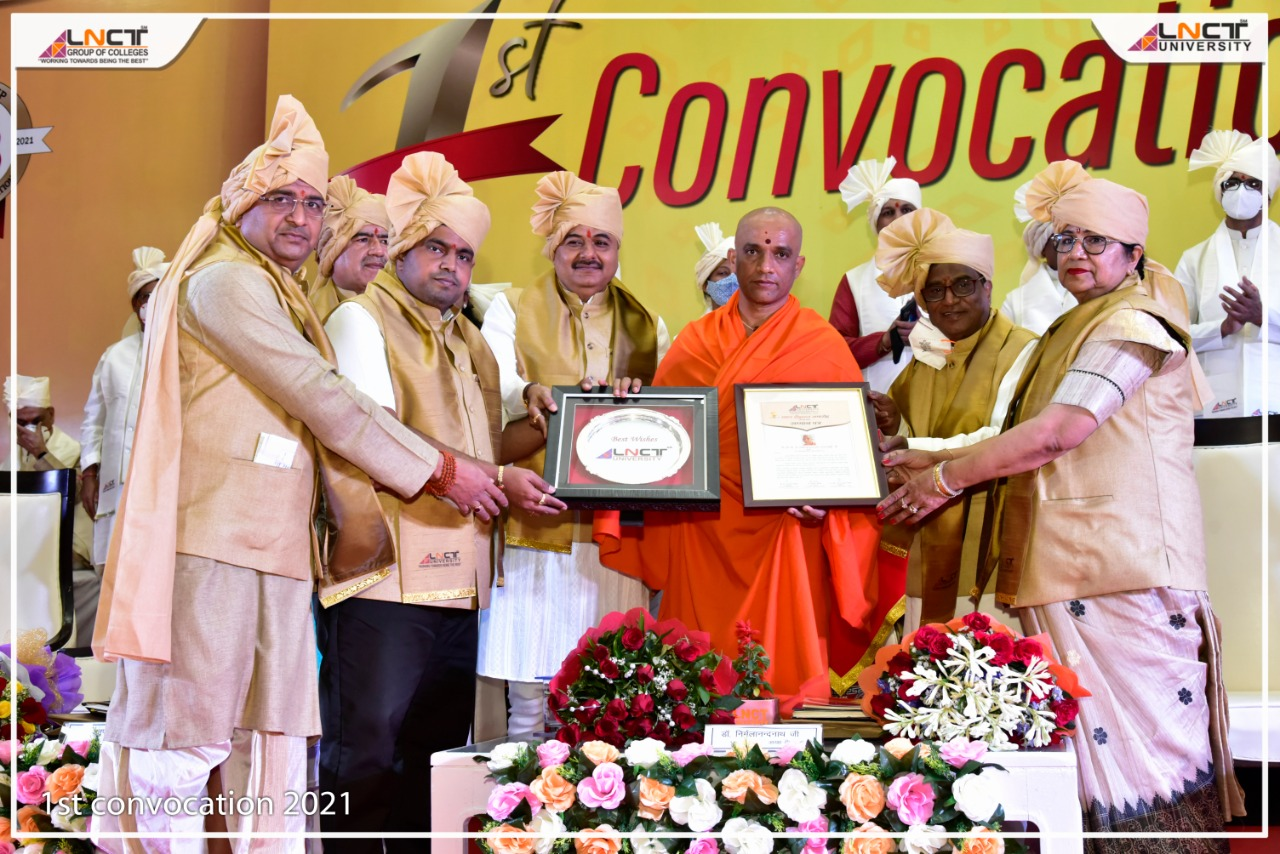 The first convocation of the LNCT University took place on Tuesday 16th March 2021 2