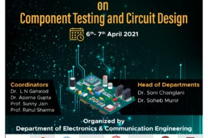 Online Two Day's Workshop on Component Testing & Circuit design