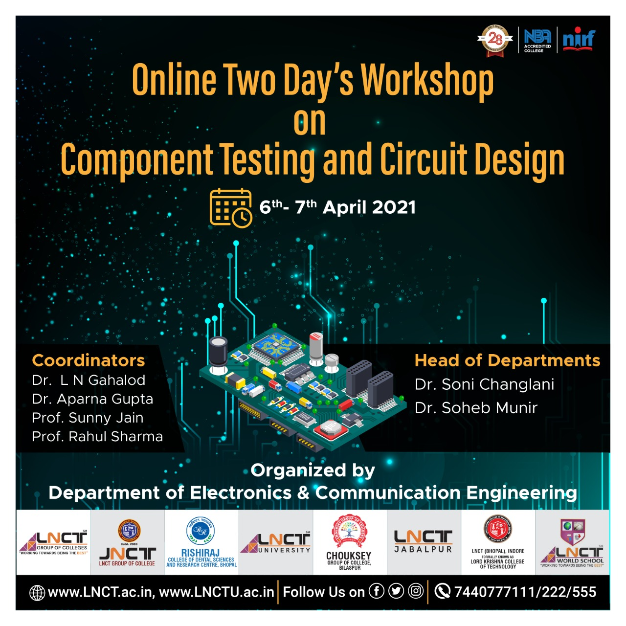 Online Two Day's Workshop on Component Testing & Circuit design 1