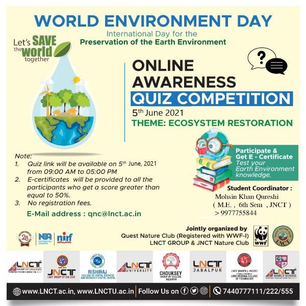 E-Quiz on Environment | on the occasion of world environment day 2