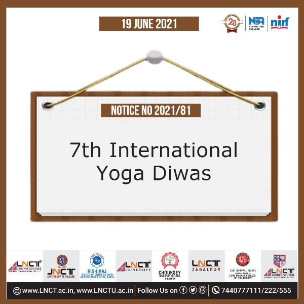 Notice No. 81 | 7th International Yoga Diwas 1