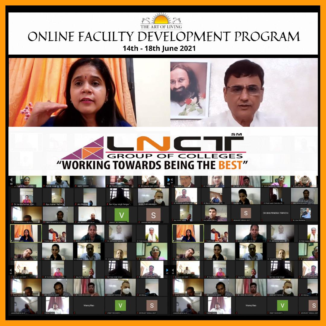 Online Faculty Program by the world renowned Art of Living Foundation 2