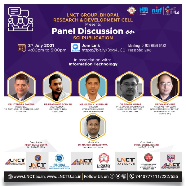 R&D Cell Present Panel Discussion on SCI Publication 10
