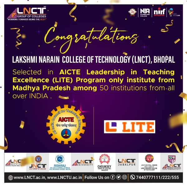 Selected in AICTE Leadership in Teaching Excellence 1
