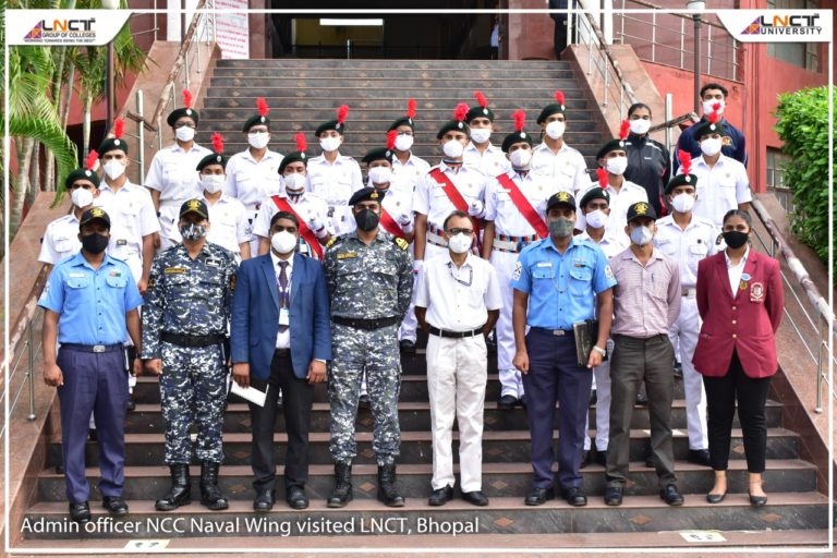 Admin officer NCC Naval Wing Visited LNCT Bhopal 1