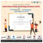 LNCT&S has been awarded a Grant in the form of free internshala trainings 4