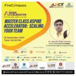 Master Class under Aspire Accelerator Program in the topic Scaling Your Team 2