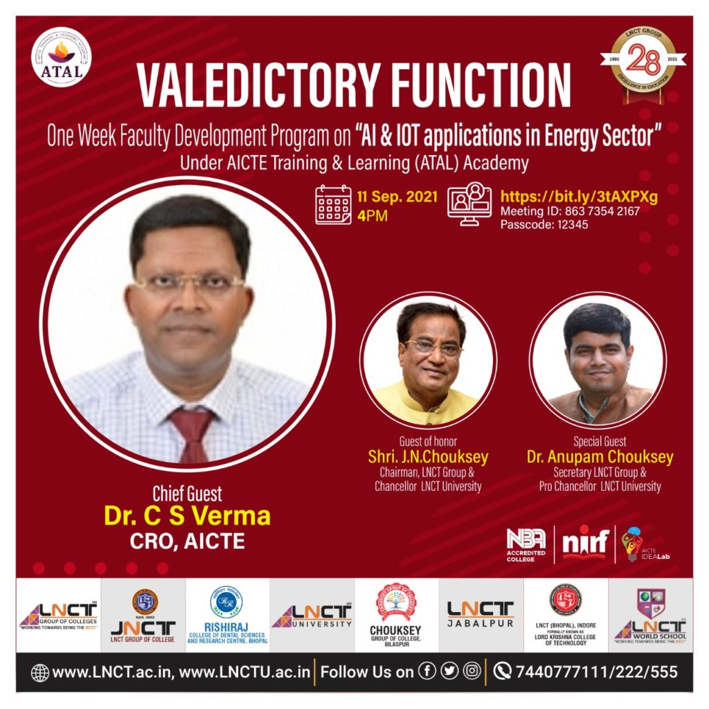 One Week Faculty Development Program on AI & IOT Application in Energy Sector 3
