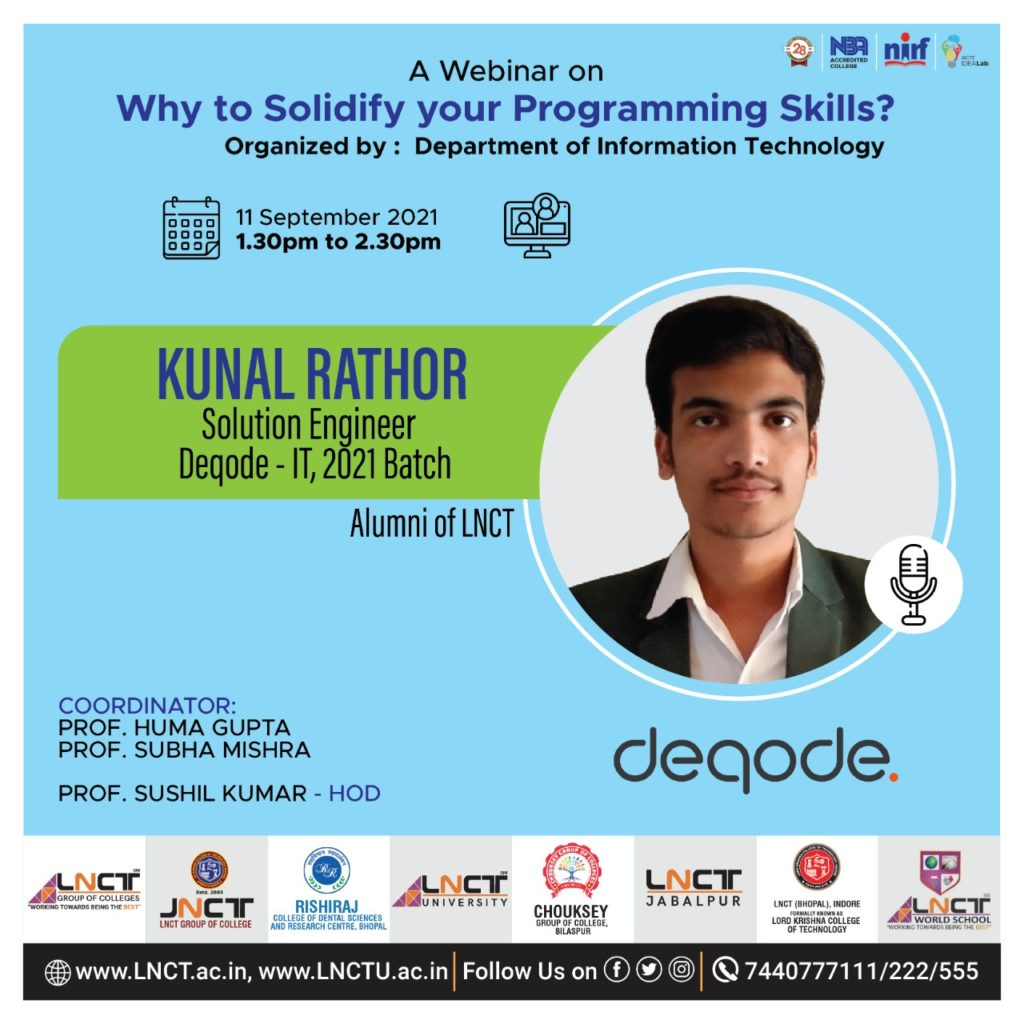 Webinar on Why Solidify Your Programming Skills 2