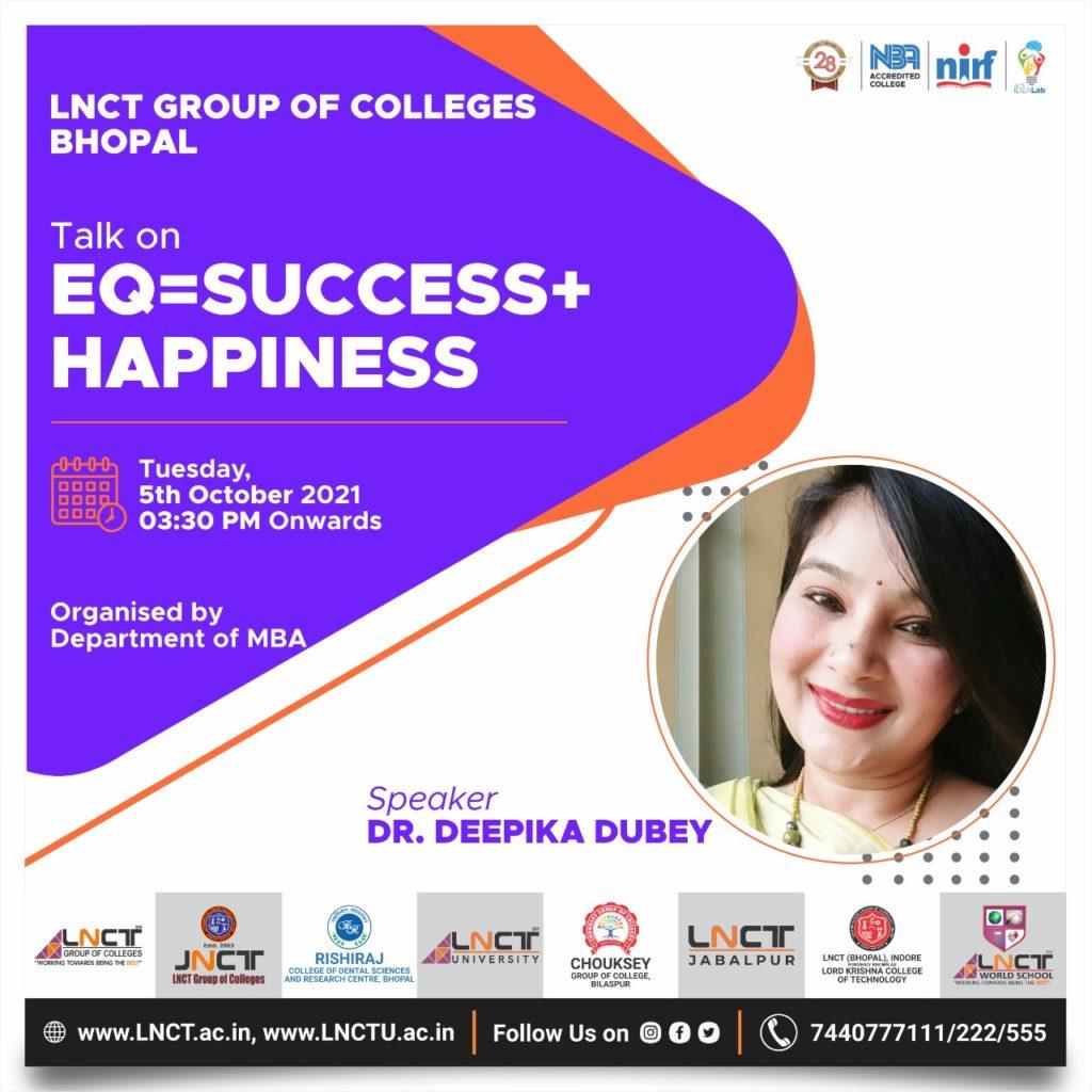 Expert Talk on EQ=Success + Happiness 2