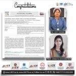 LNCT Group Congratulates Dr. Kirti Verma,LNCT & Prof.Vineeta Shrivastava, LNCTE 6