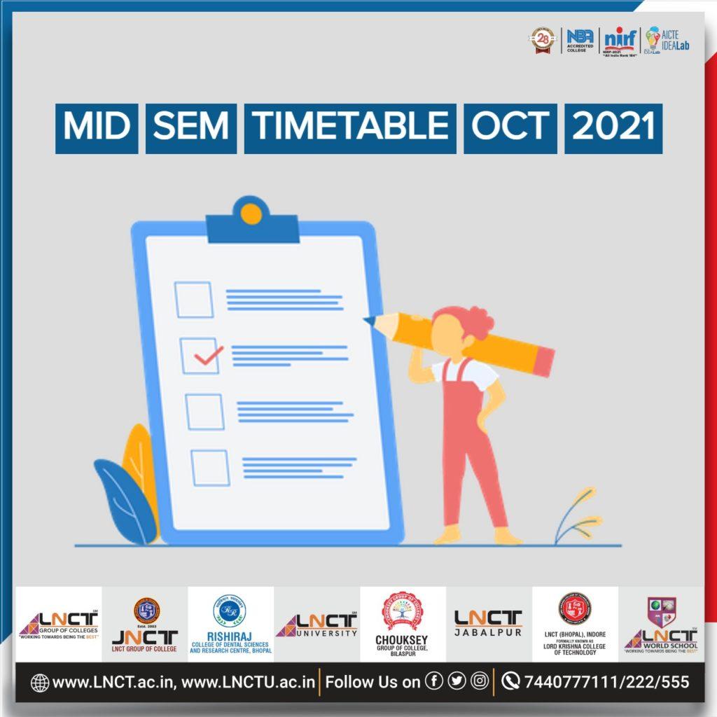 Mid Sem Timetable Oct 2021 1