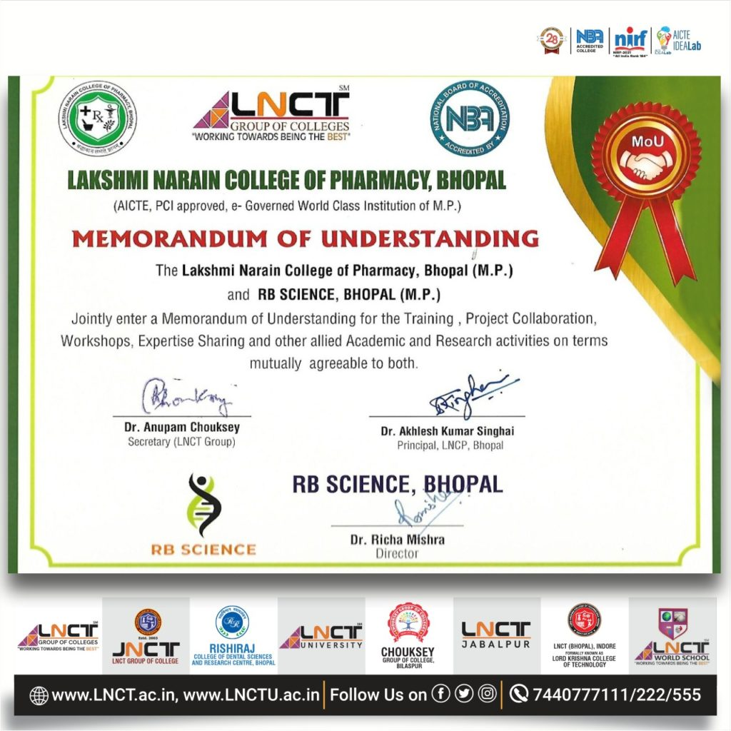 LNCP signed an MoU with RB Science 2